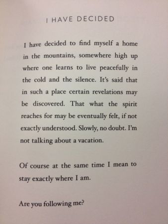I Have Decided, Mary Oliver